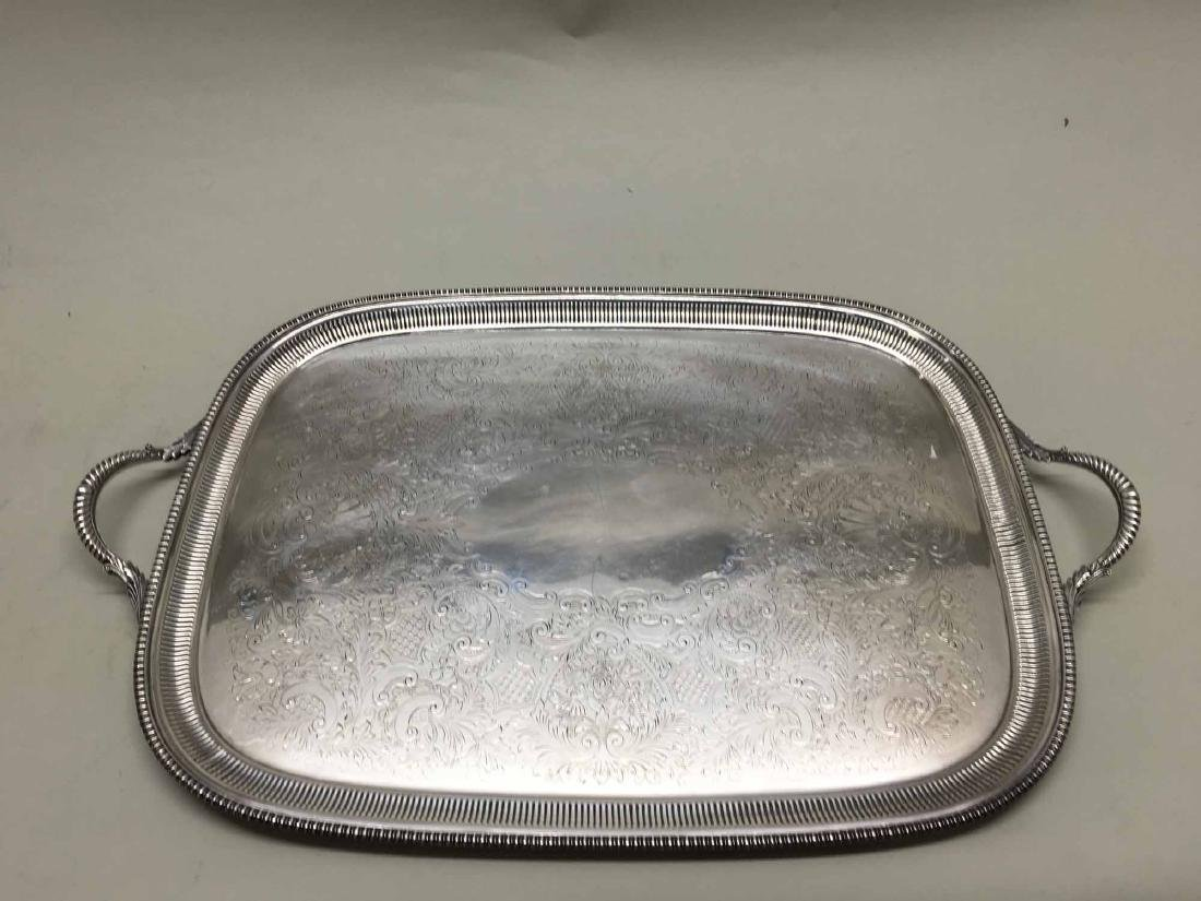 ENGLISH SILVER PLATED SERVING TRAY