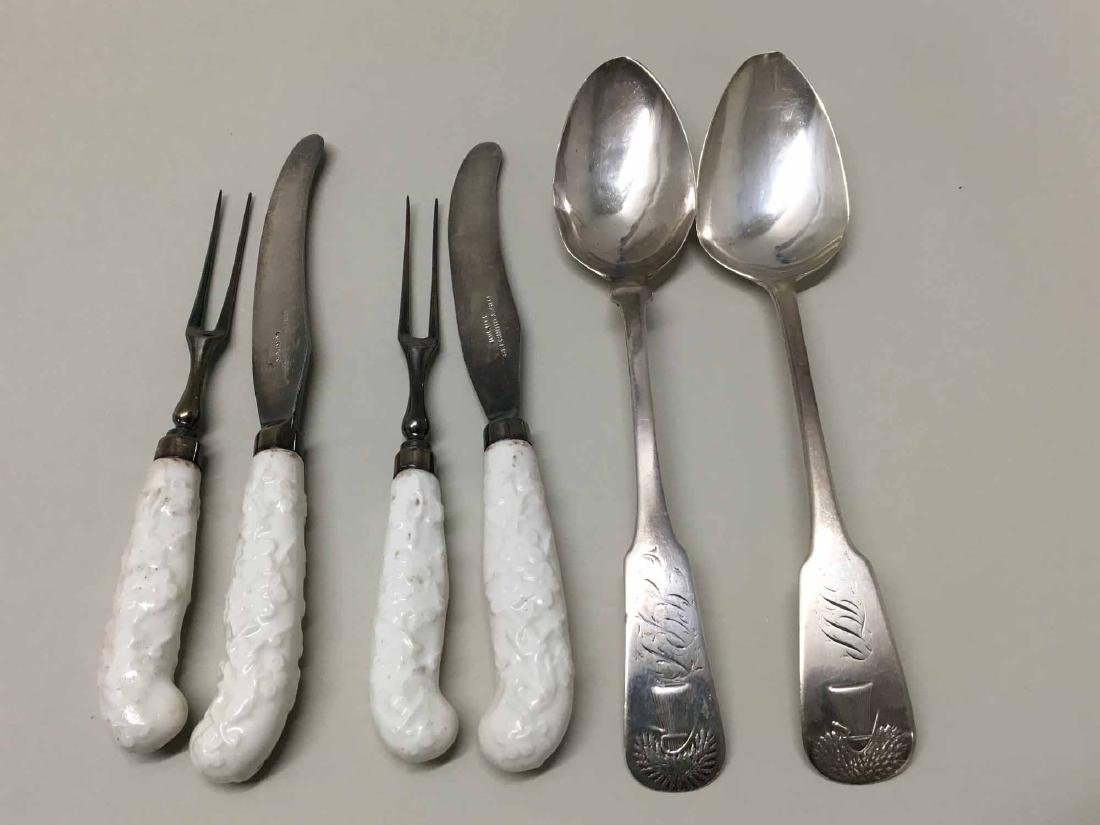 TWO GRAY HURST AND CO KNIFE AND FORKS