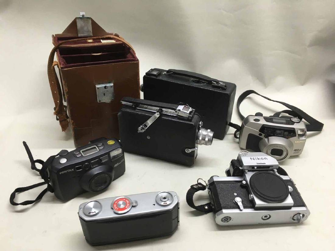 GROUP OF ASSORTED CAMERAS