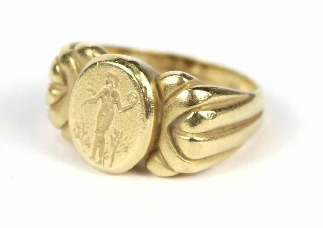 Vahe Naltchayan 18K Yellow Gold Intaglio Ring