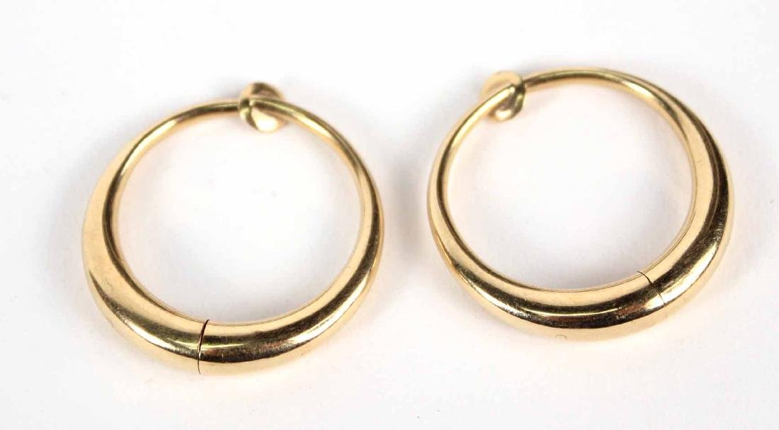 Pair of 14K Yellow Gold Hoops Ear Clips