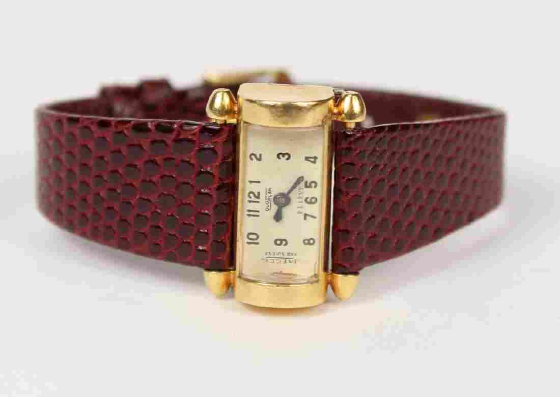 18K Yellow Gold Jaeger Duo Plan Wristwatch