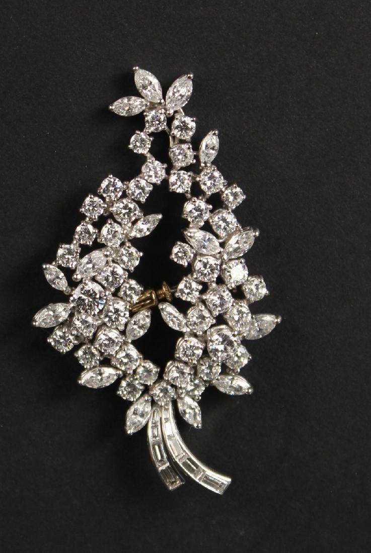 Platinum & Diamond Spray Brooch