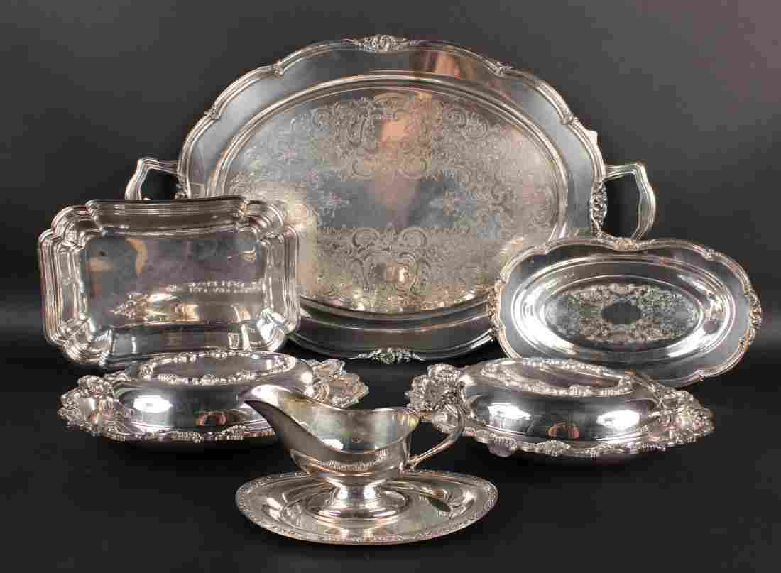 Silver Plated Double Handle Tray