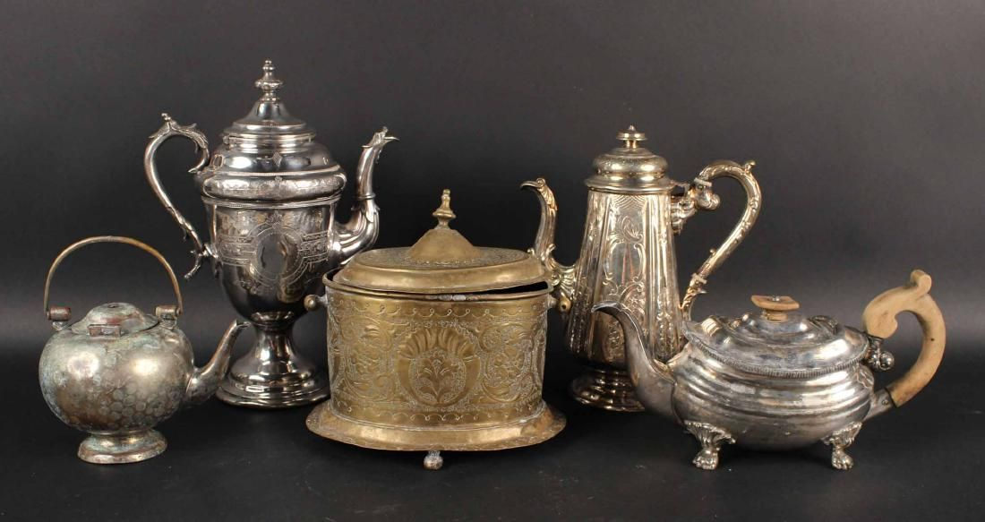 Five Silver Plated Holloware Articles