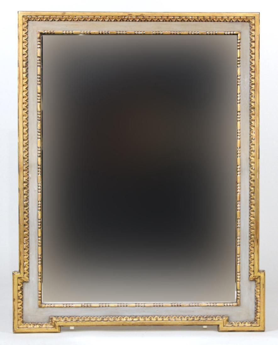 Parcel-Gilt and Painted Pier Mirror