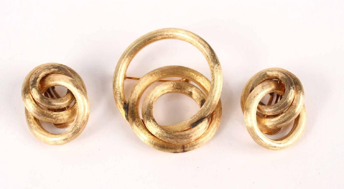 Pair of 14K Brushed Gold Ear Clips