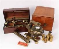 Mahogany Cased Microscope by Dolland London