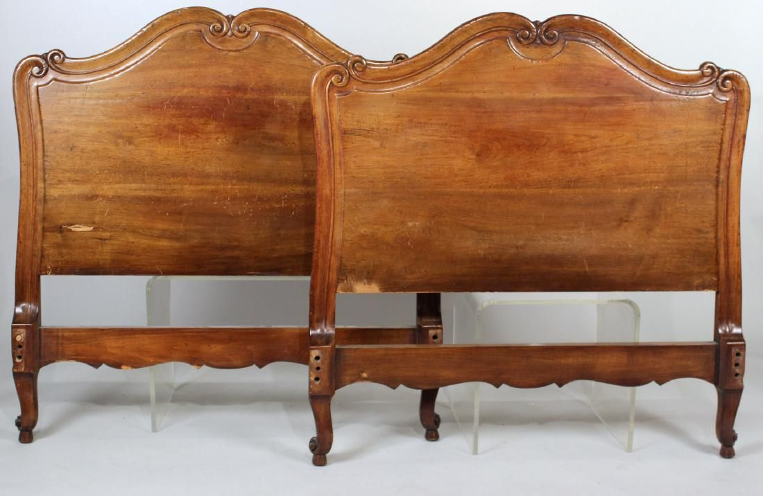 Pair of Louis XV Style Walnut Bedsteads