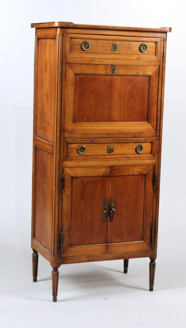 Neoclassical Style Fruitwood Secretaire Abbatant