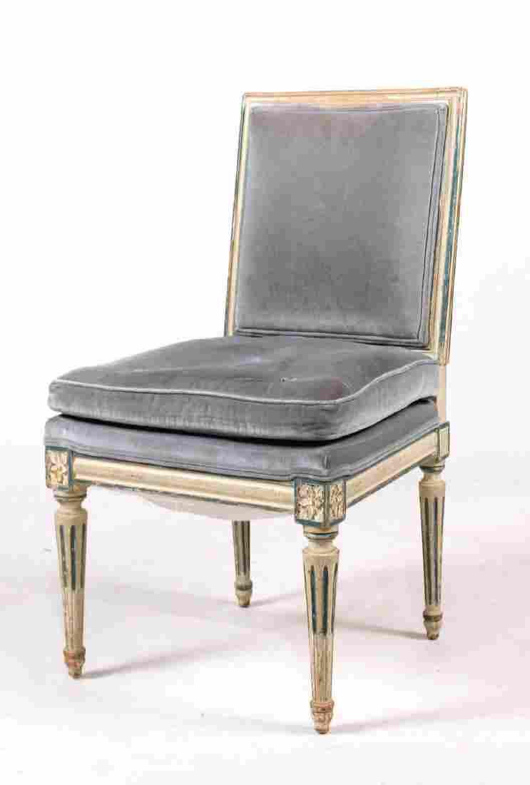 Louis XVI Style Painted Beechwood Side Chair