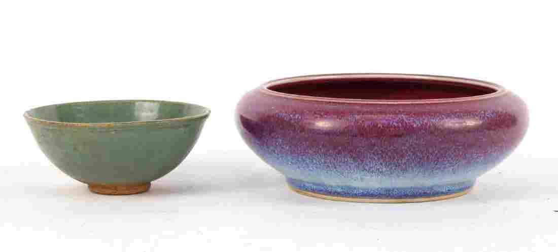 Chinese Green Glazed Stonewear Bowl