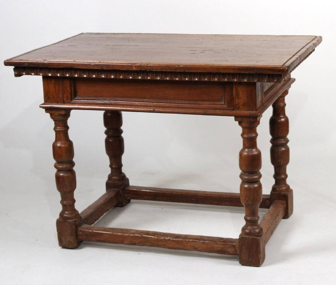 Baroque Style Oak and Elm Side Table