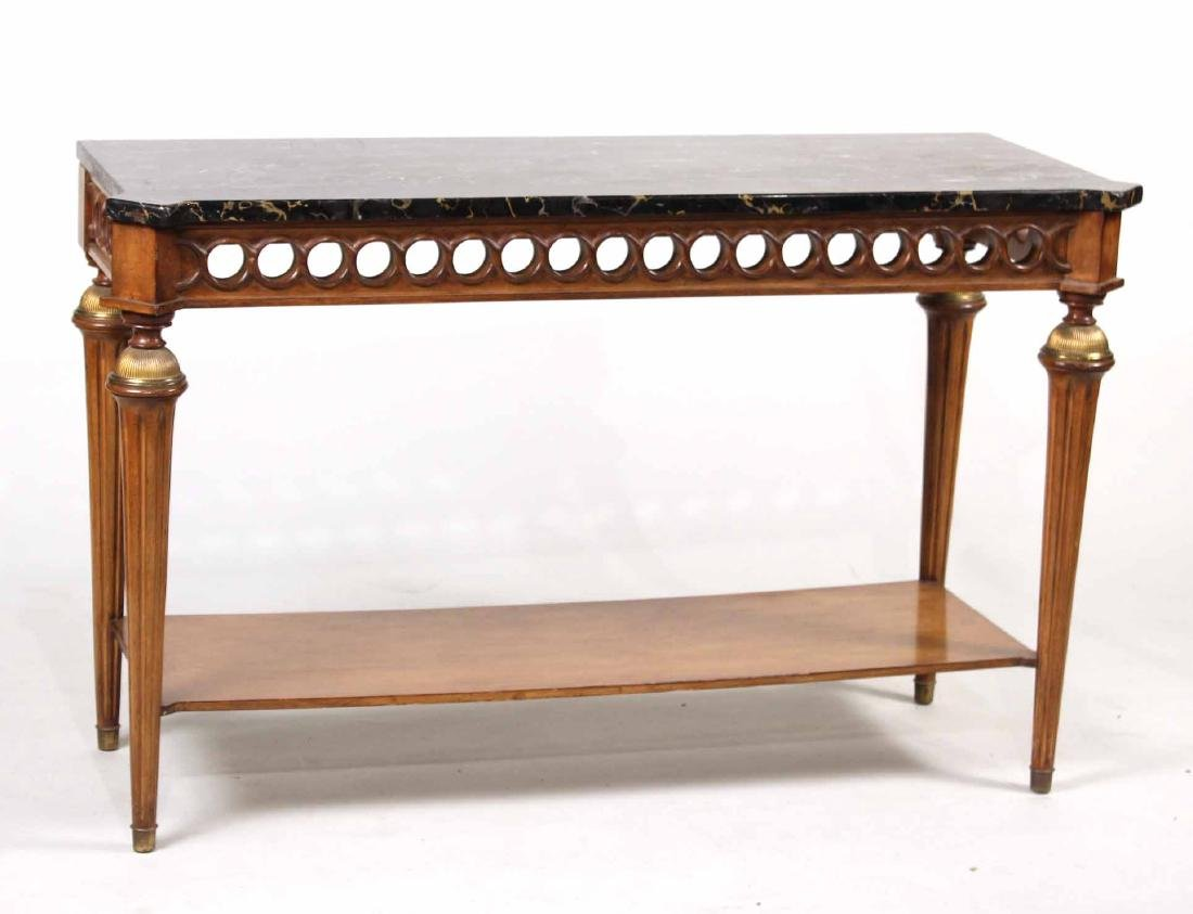 Neoclassical Style Marble-Top Pier Table
