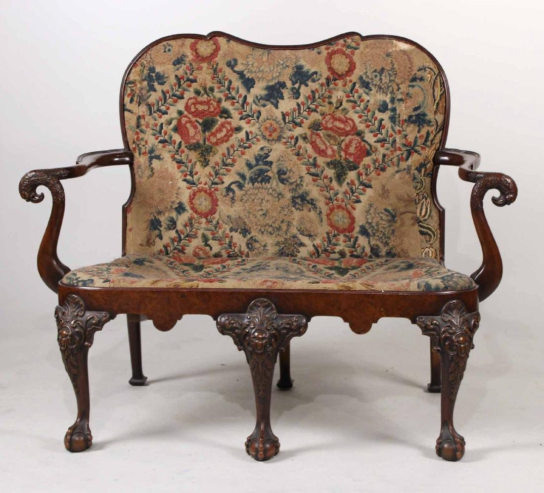 Chippendale Style Mahogany Settee