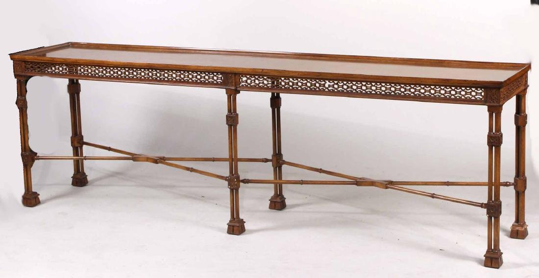 Regency Style Mahogany Long Console Table