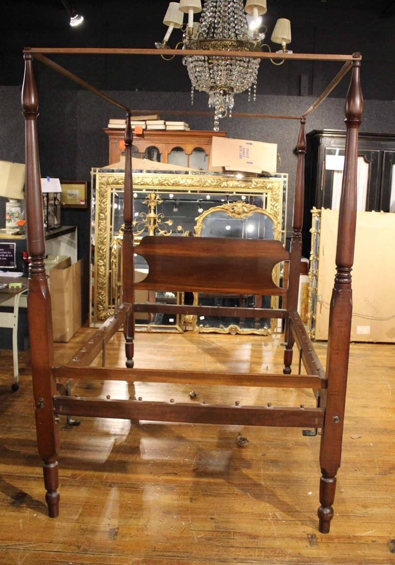 Federal Style Mahogany Tester Bed