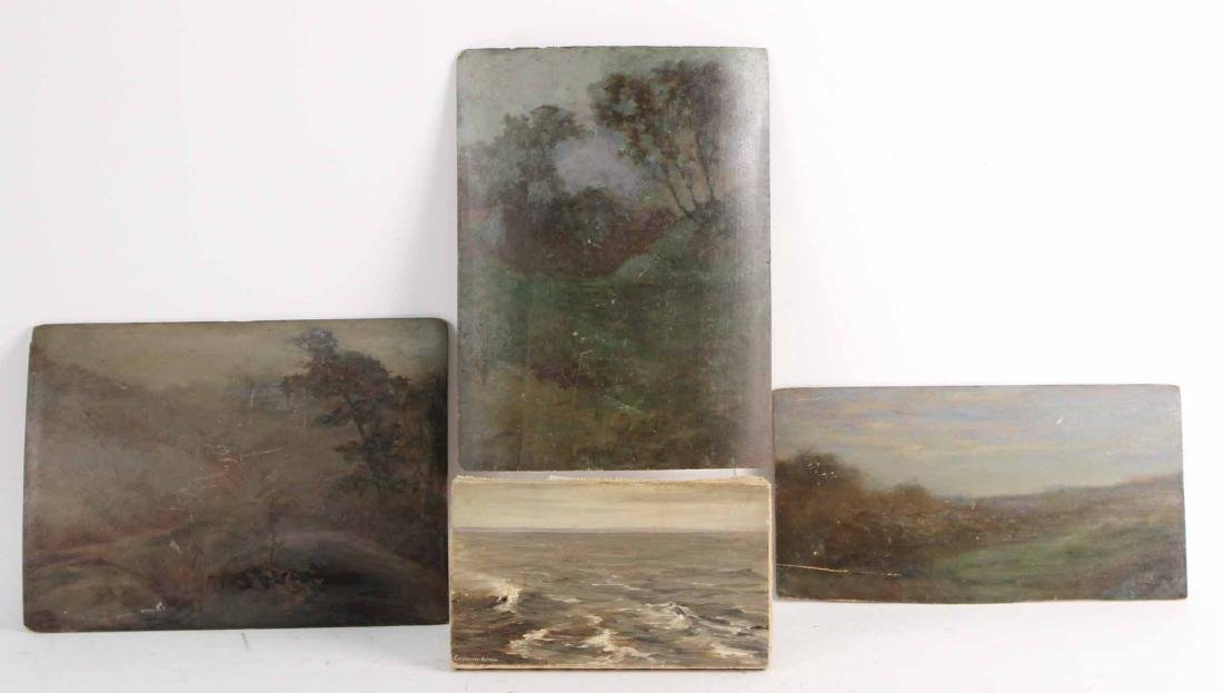 Four Oil Paintings, Eli Harvey