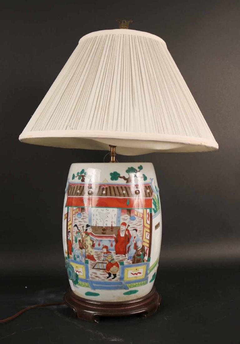 Chinese Glazed Porcelain Table Lamp
