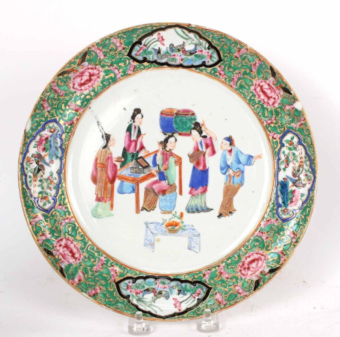 Chinese Export Bowls, Plates, and Platters, - 10