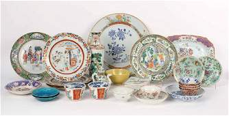 Chinese Export Bowls, Plates, and Platters,