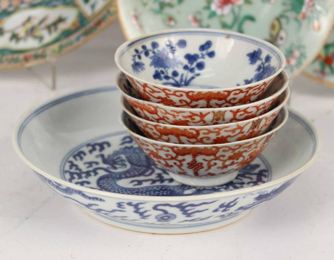 Chinese Export Bowls, Plates, and Platters, - 5