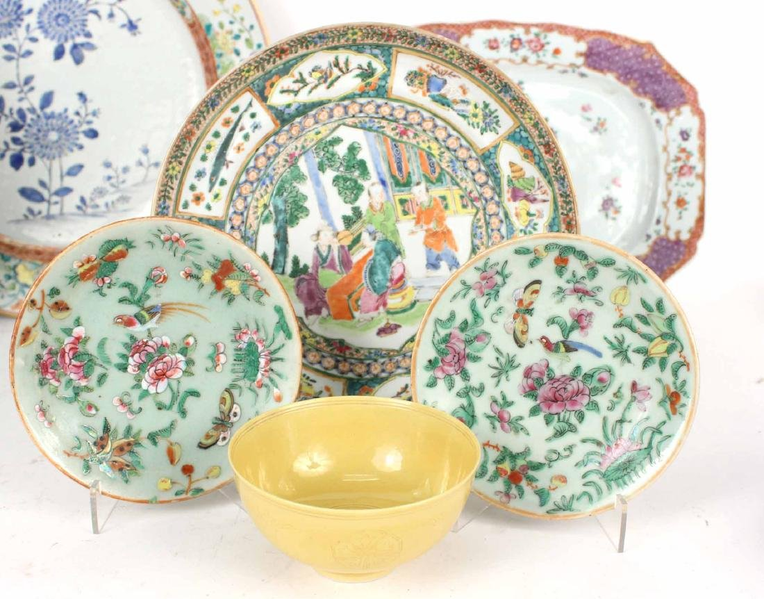 Chinese Export Bowls, Plates, and Platters, - 6