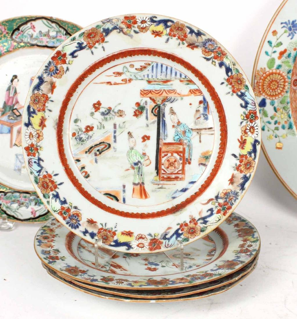 Chinese Export Bowls, Plates, and Platters, - 7