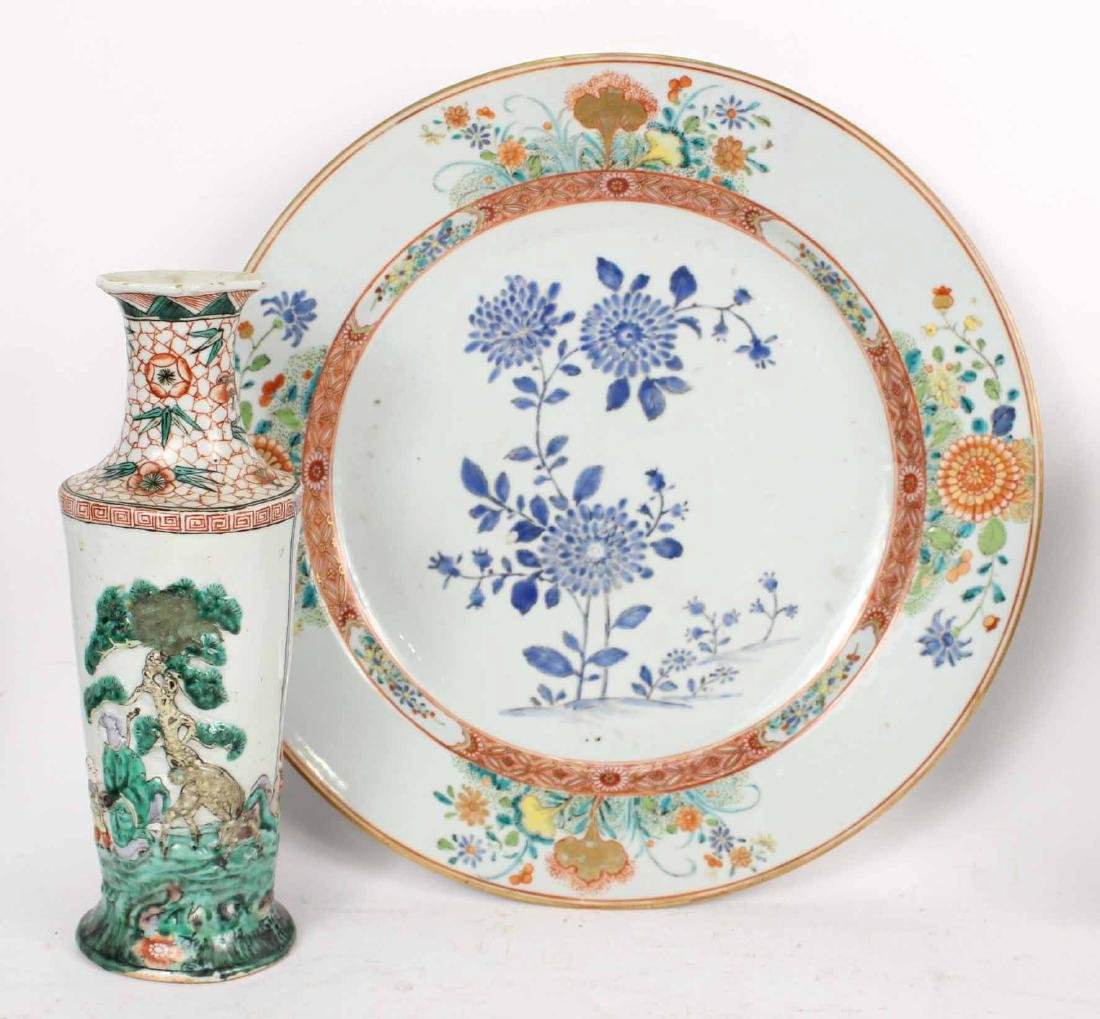 Chinese Export Bowls, Plates, and Platters, - 8