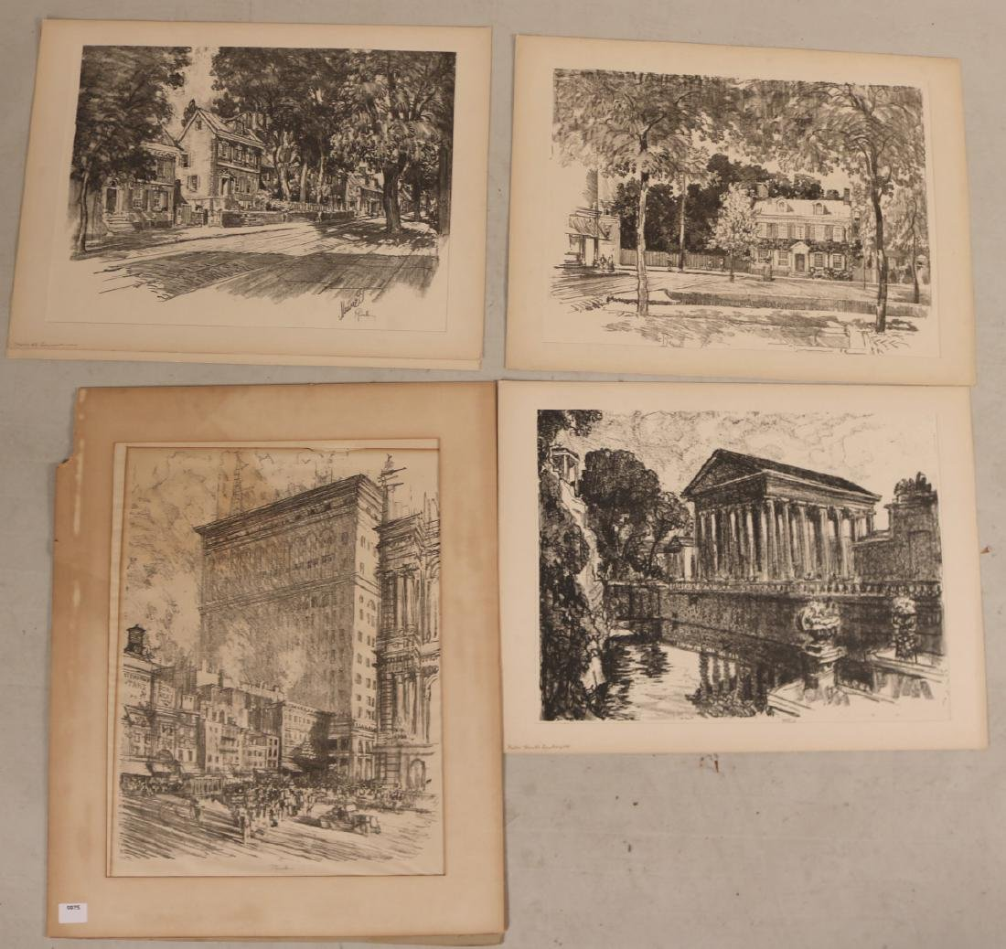 Four Assorted Prints, Joseph Pennell