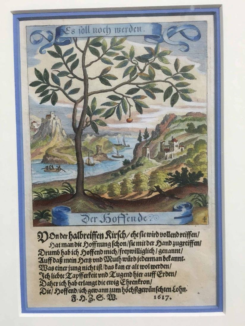 TWO GERMAN LANDSCAPE BOOK PLATES