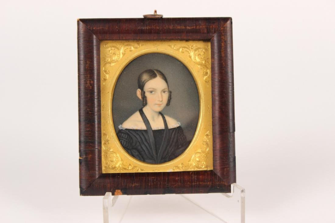 MINIATURE PORTRAIT OF A GIRL