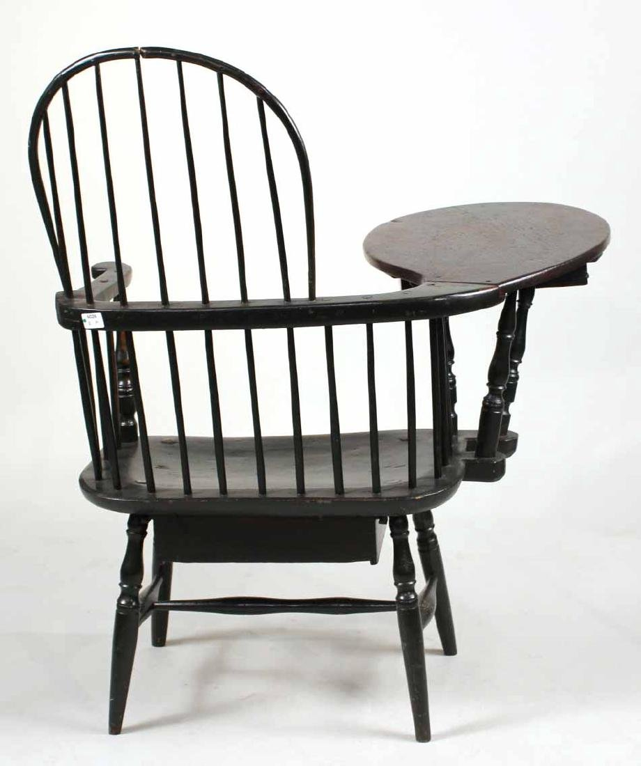 Green-Painted Windsor Writing Armchair - 9