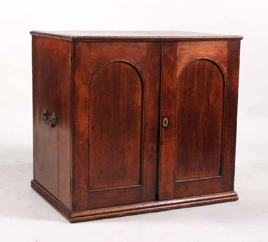 Regency Mahogany Collector's Cabinet