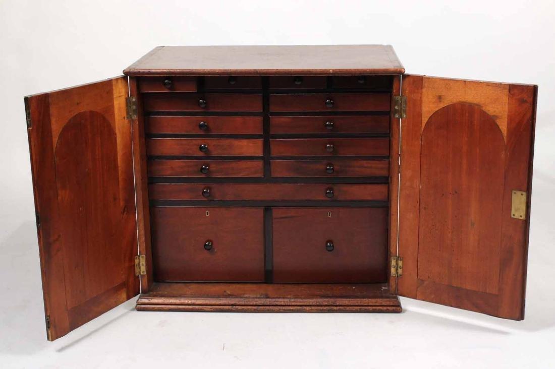 Regency Mahogany Collector's Cabinet - 5