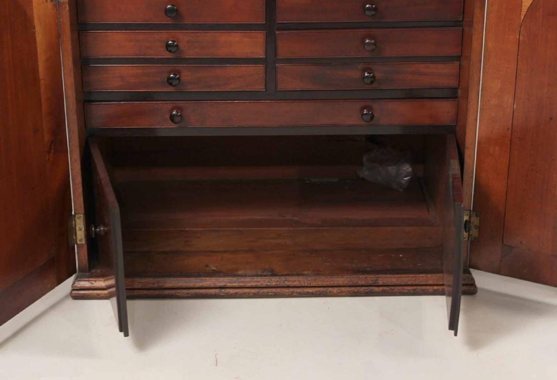 Regency Mahogany Collector's Cabinet - 7