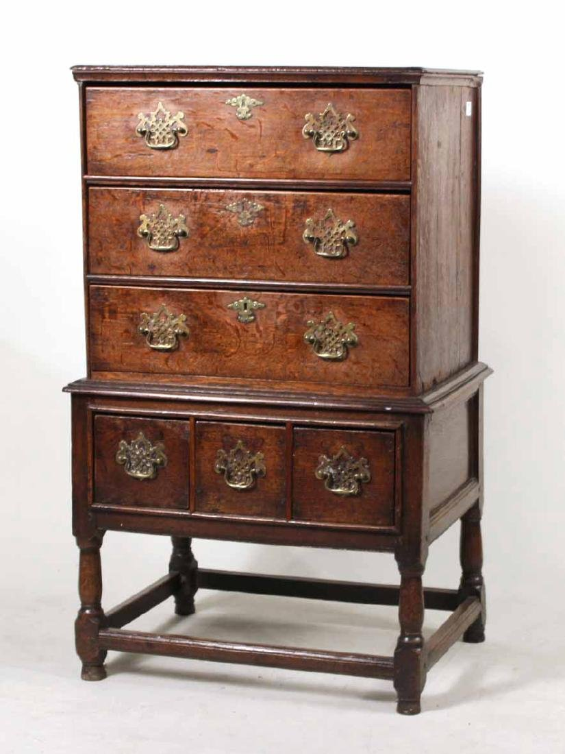 George III Oak Chest on Stand