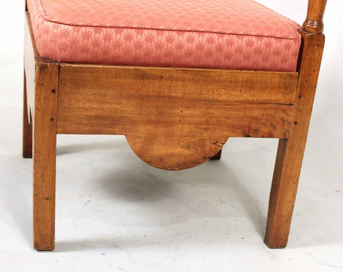 George III Style Mahogany Corner Chair - 3