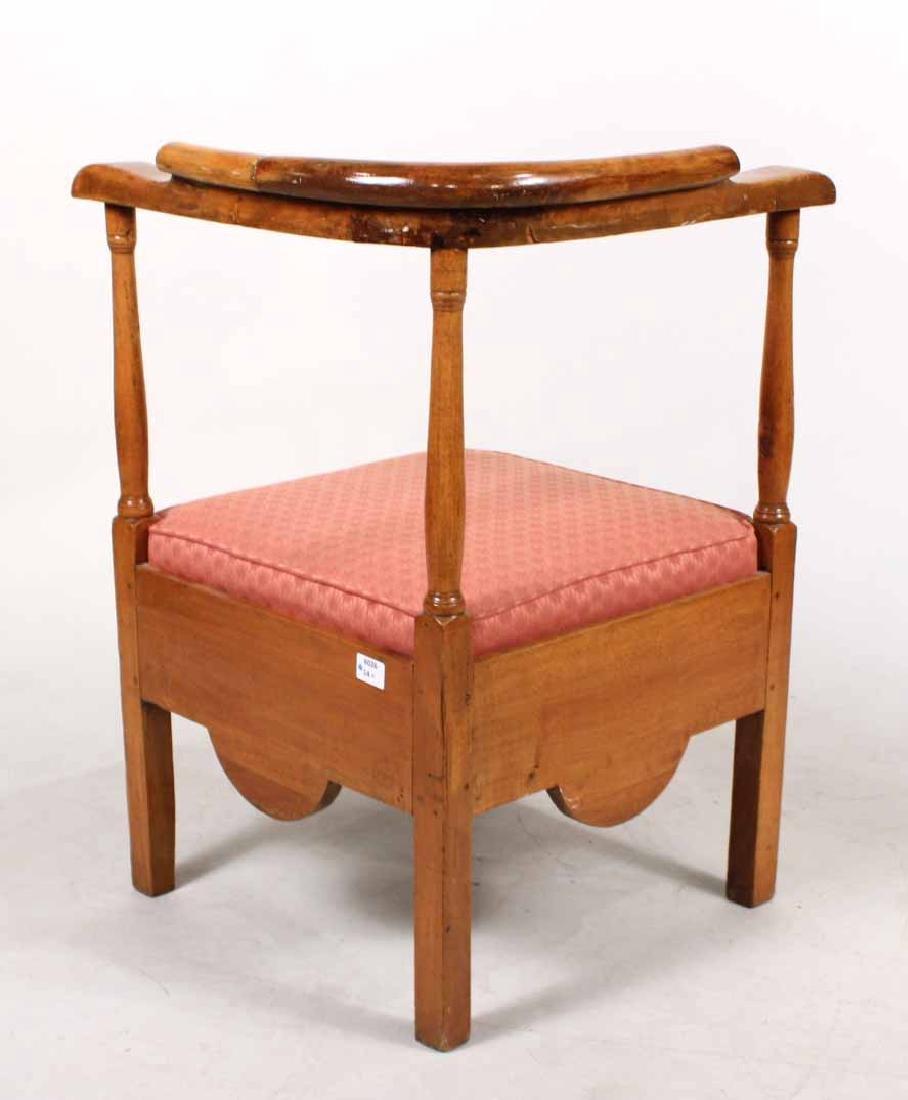 George III Style Mahogany Corner Chair - 6