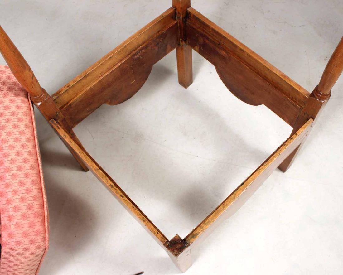 George III Style Mahogany Corner Chair - 7