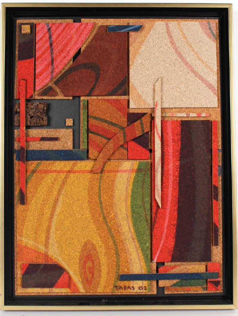Acrylic on Cork, Abstract, Taras Borovyk