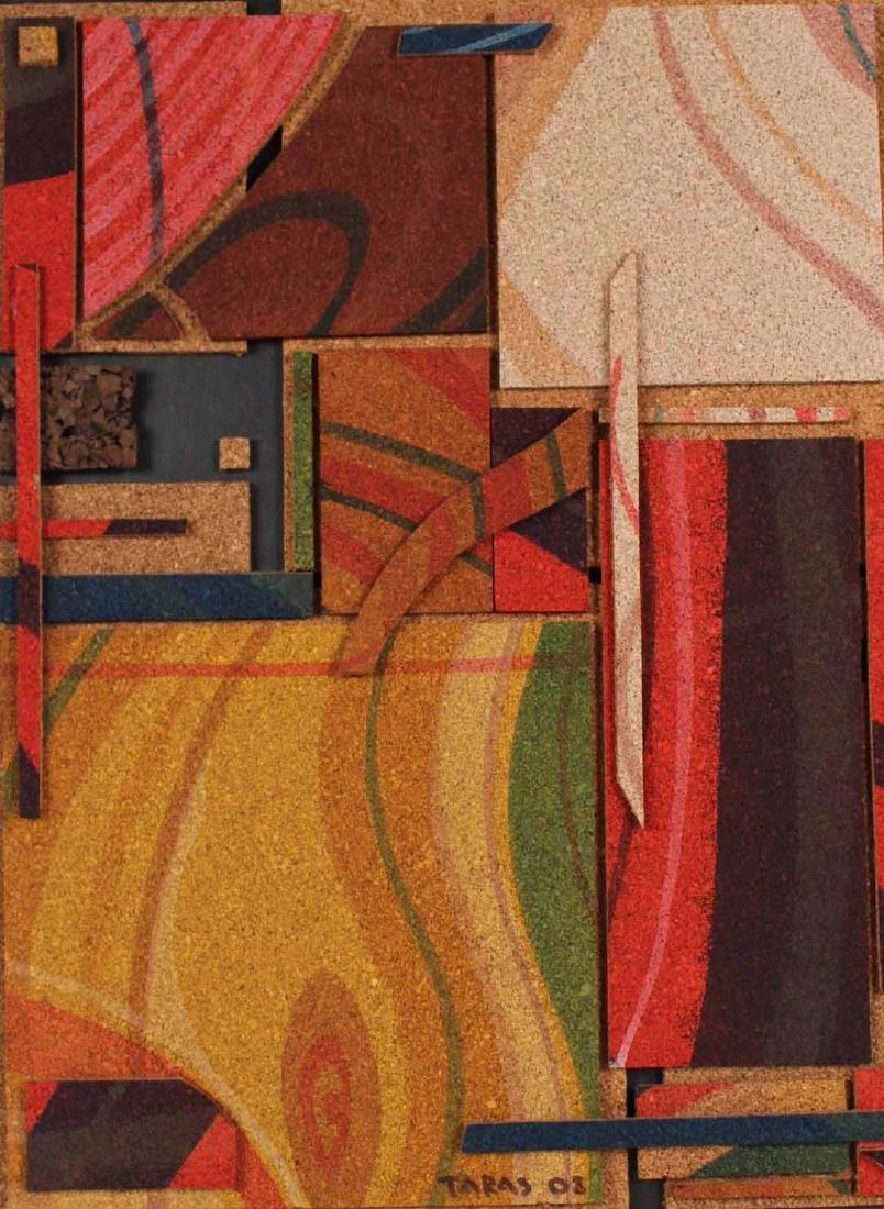 Acrylic on Cork, Abstract, Taras Borovyk - 2