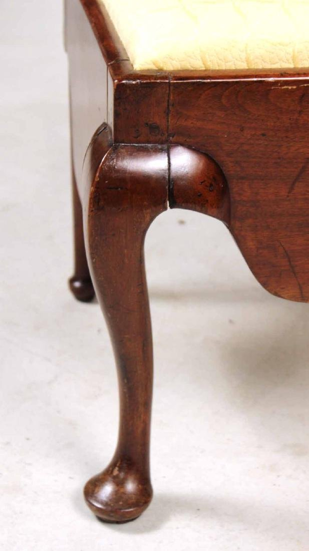 Queen Anne Mahogany Corner Commode Chair - 5