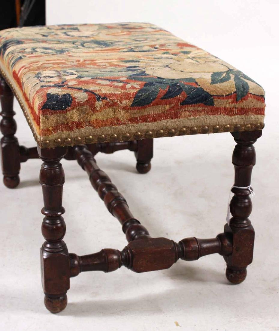 Pair of William &Mary Style Turned Walnut Benches - 5