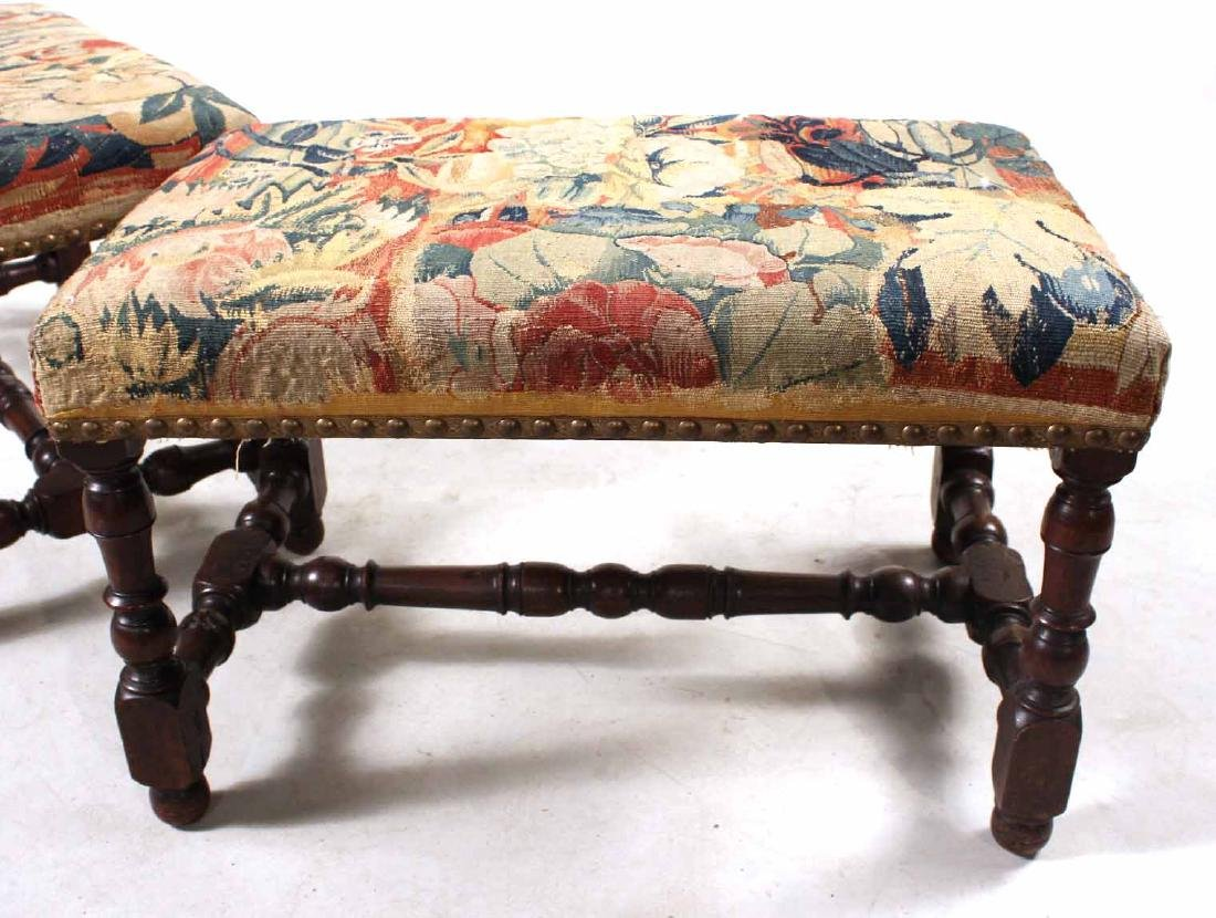 Pair of William &Mary Style Turned Walnut Benches - 6