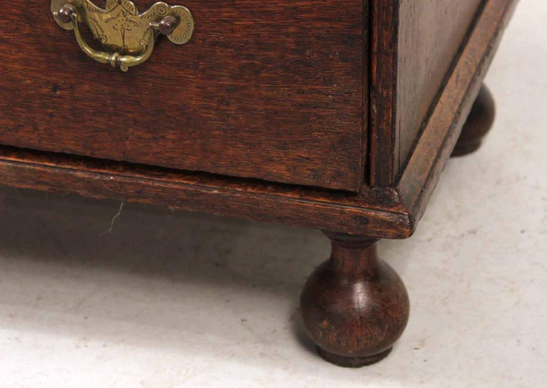 Queen Anne Oak Diminutive Chest of Drawers - 3