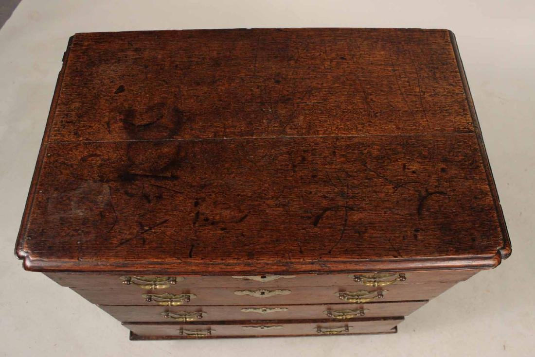 Queen Anne Oak Diminutive Chest of Drawers - 6
