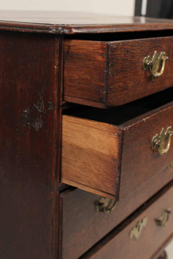 Queen Anne Oak Diminutive Chest of Drawers - 7