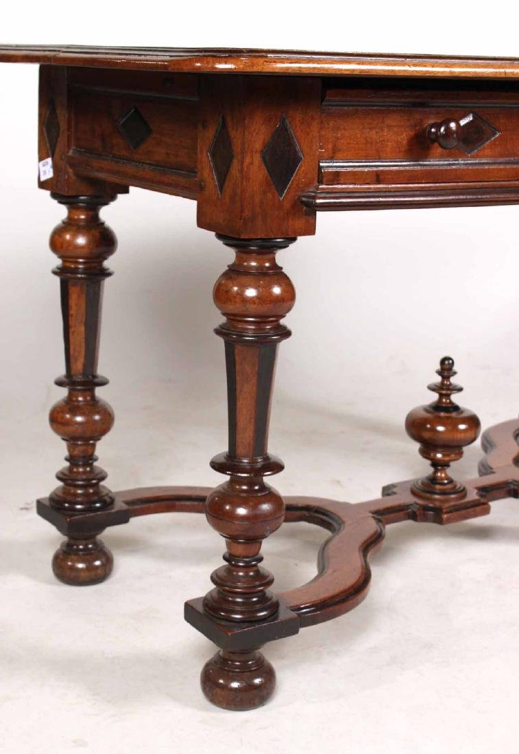 Baroque Part-Ebonized Walnut Pier Table - 2