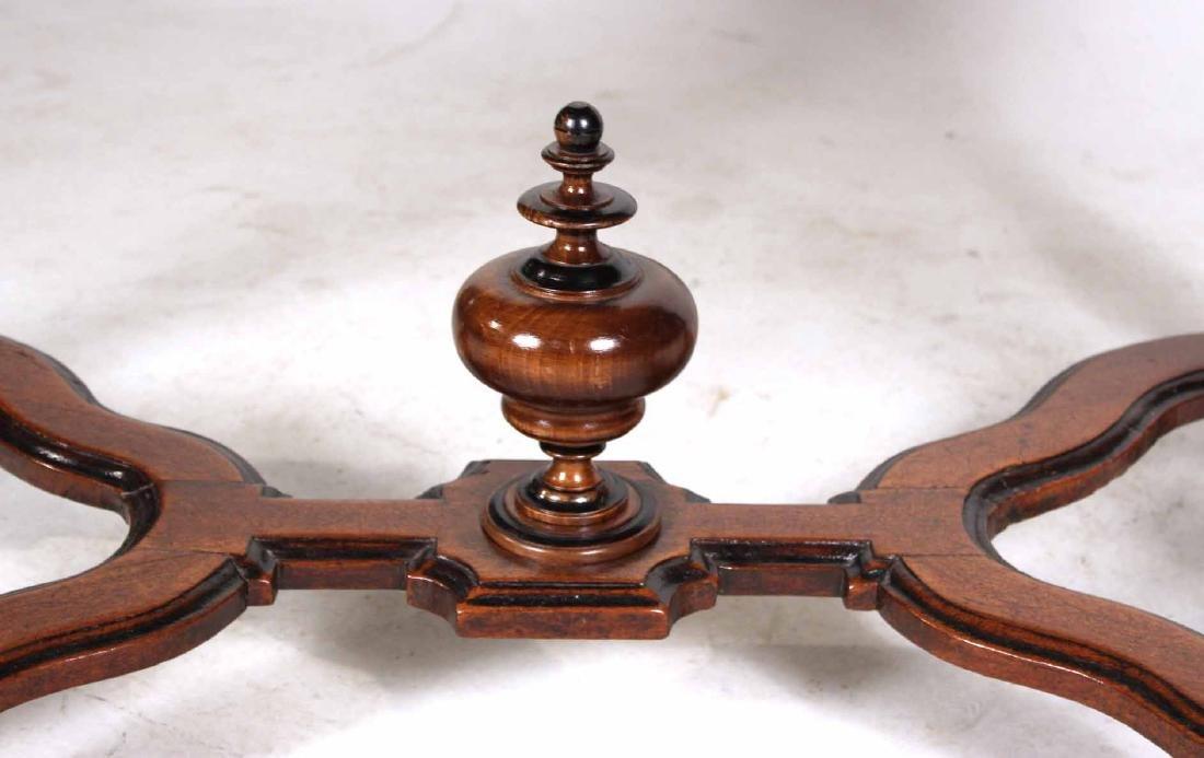 Baroque Part-Ebonized Walnut Pier Table - 3